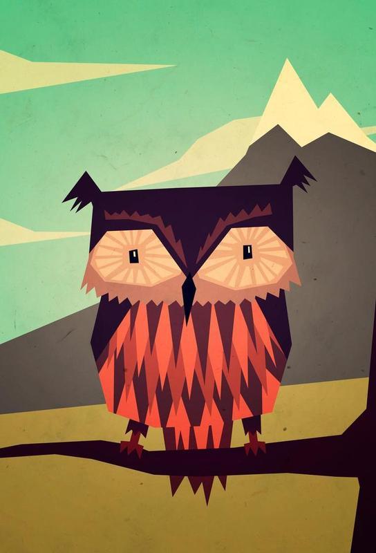 Critter Owl alu dibond