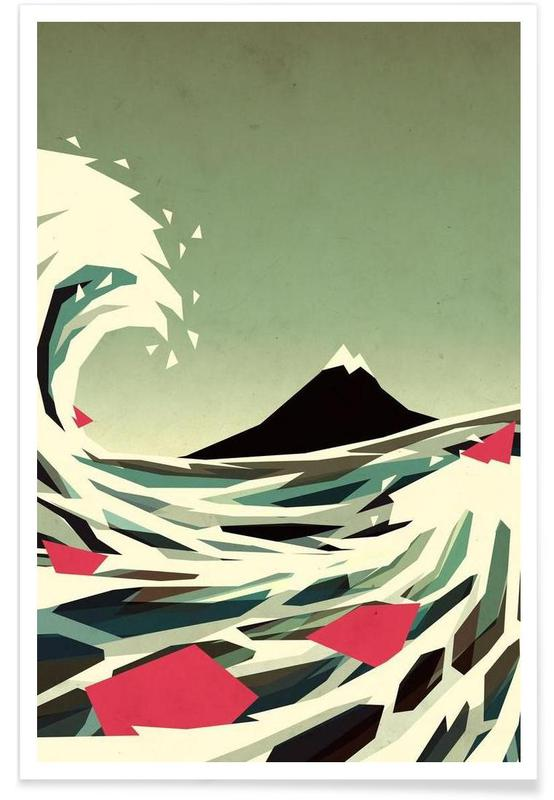 Paysages abstraits, Go with the flow affiche