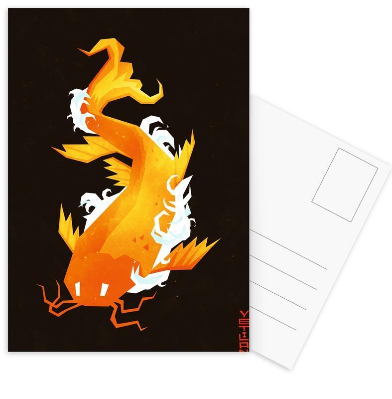 Fische, Koi -Postkartenset