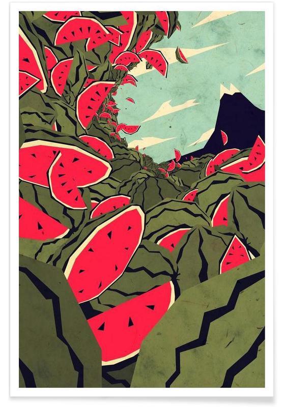 Pastèques, Watermelon surf dream affiche