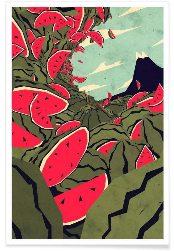 Watermelon surf dream Poster