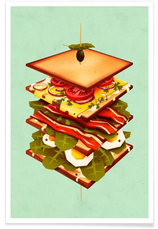 Burgers, Sandwich Poster