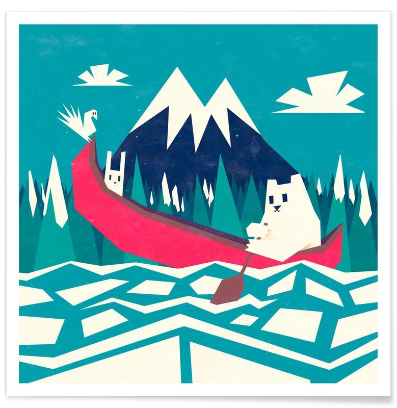 Yeti Canoe -Poster