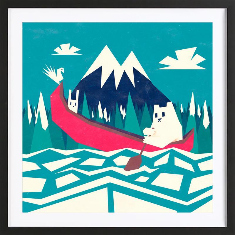 Yeti Canoe Framed Print