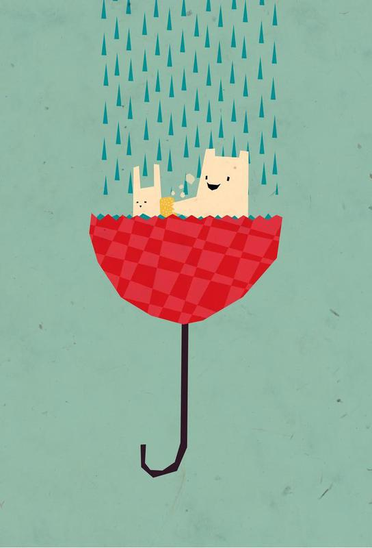 Umbrella bath time! Acrylic Print