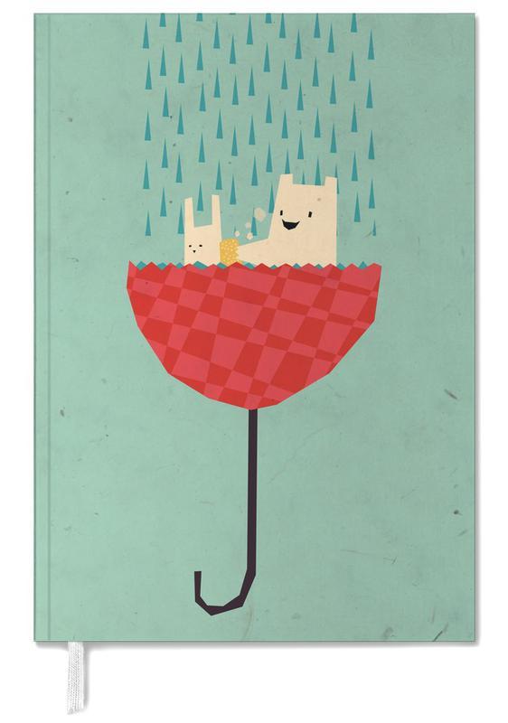 Ours, Lapins, Art pour enfants, Umbrella bath time! agenda