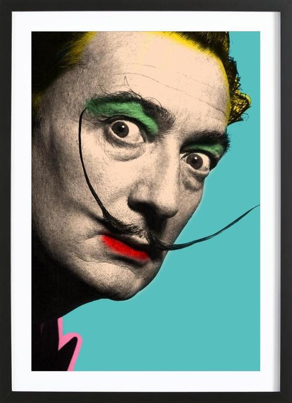 Salvador Dali affiche sous cadre en bois