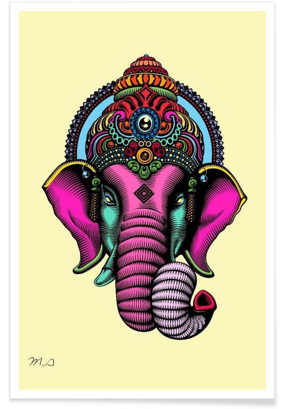 Éléphants, Voyages, India affiche