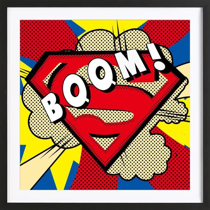 Boom! Framed Print