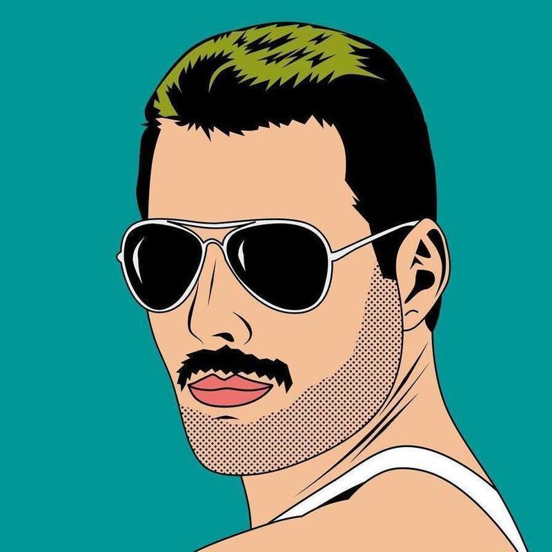 Freddie Mercury canvas doek