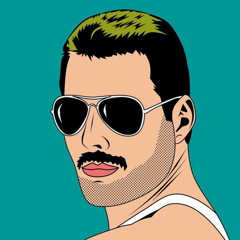 Freddie Mercury alu dibond
