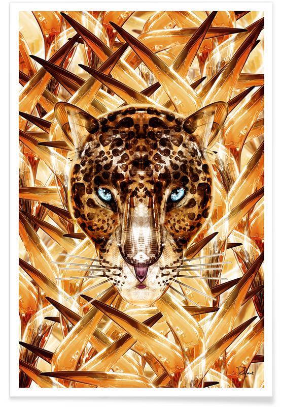 Blätter & Pflanzen, Leoparden, Savana Racer -Poster