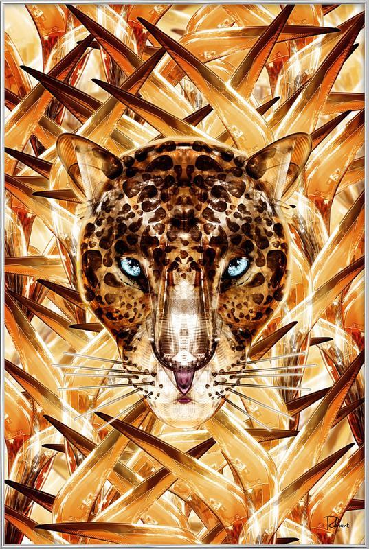 Savana Racer -Poster im Alurahmen