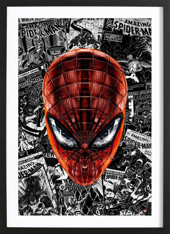 The Spider affiche sous cadre en bois