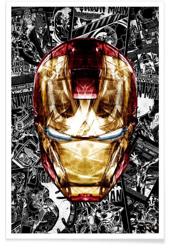 Iron Man, Blood & Gold Poster