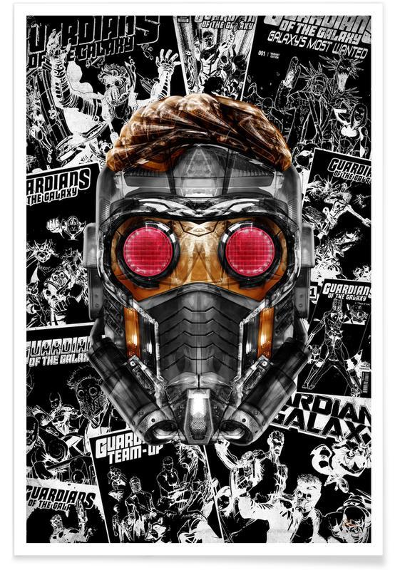 Pop Art, Funky Star -Poster