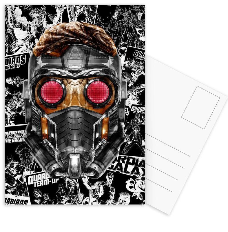 Pop Art, Funky Star Postcard Set