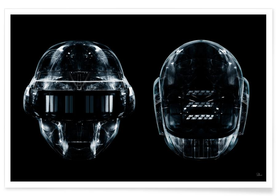 Pop Art, Daft Black Faces Duo -Poster