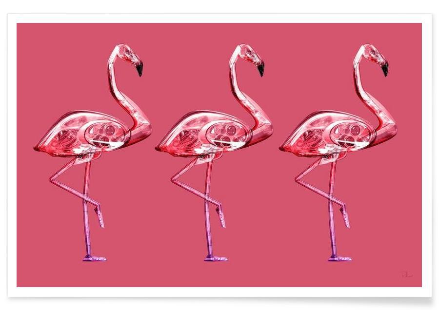 Flamingo's, Flamingo Yellow poster
