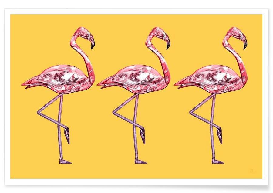 Flamingo's, Flamingo Pink poster