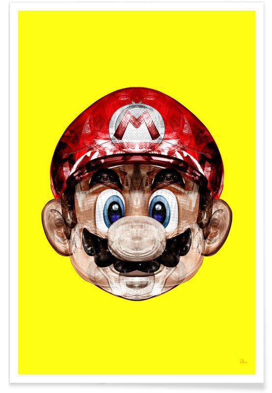 Mario, Super Plombier Poster