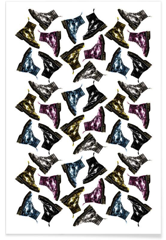 Modeillustration, Whats Up Dog Pattern 1 -Poster