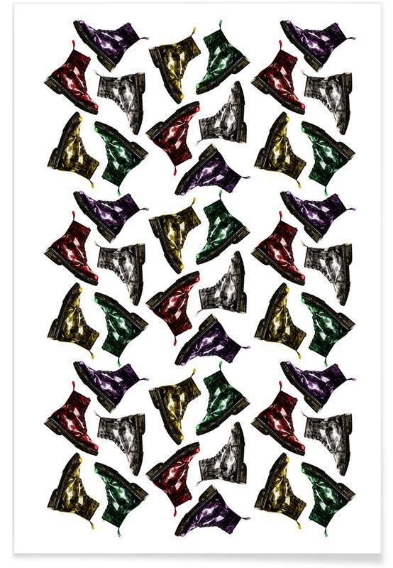 Illustrations de mode, Whats Up Dog Pattern 2 affiche