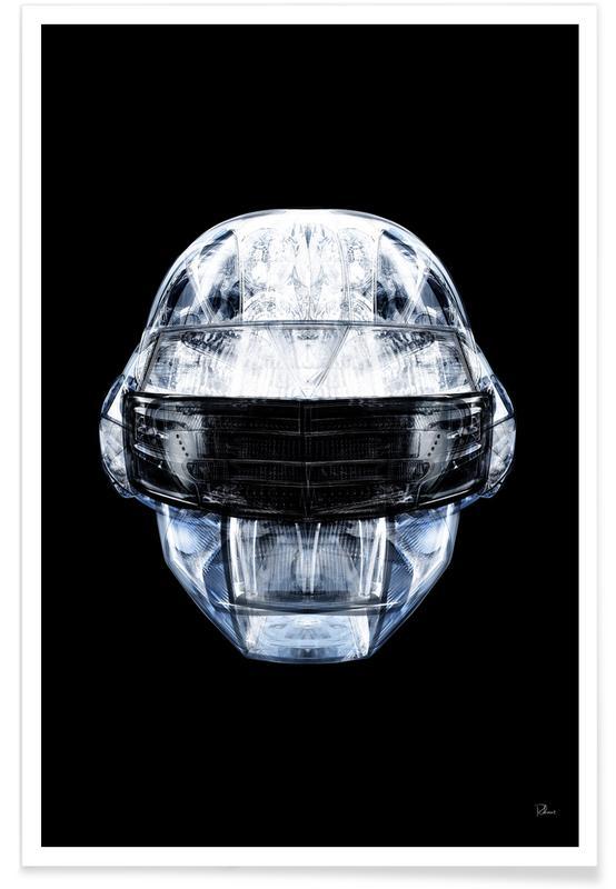 Daft Punk, Pop Art, Daft Chrome -Poster