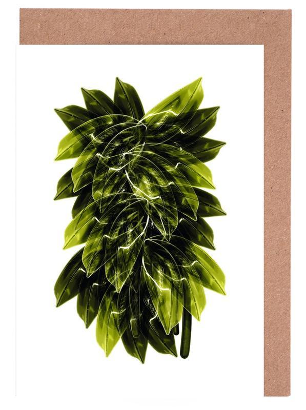Bladeren en planten, Exotic Art 5 wenskaartenset