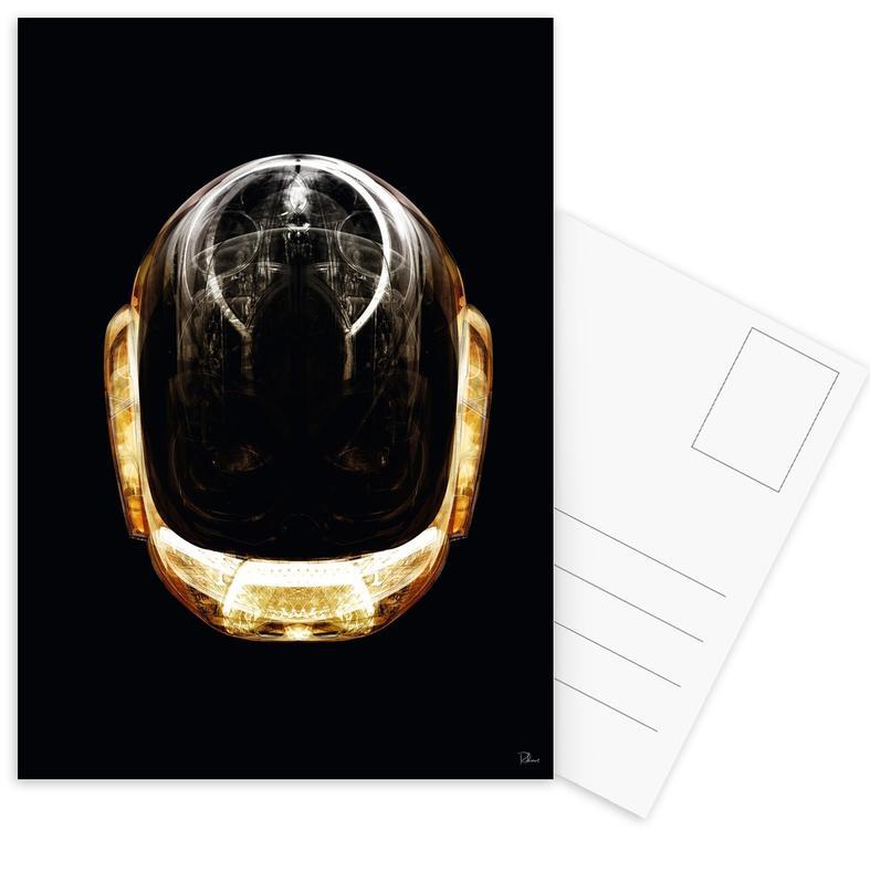 Daft Punk, Popart, Daft Gold ansichtkaartenset