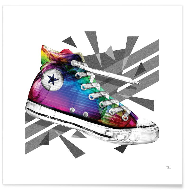 Mode-illustratie, Popart, All Star of My Life Rainbow poster