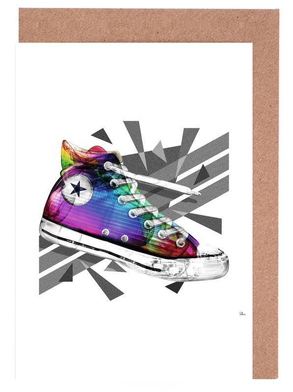Mode-illustratie, Popart, All Star of My Life Rainbow wenskaartenset
