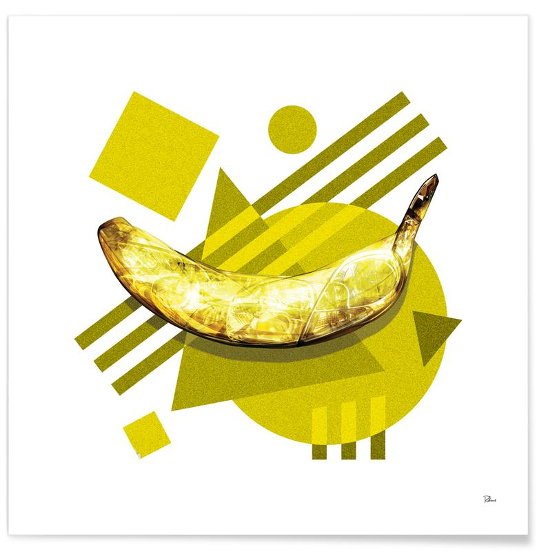 Bananas, Pop Art, Lamda Banana Poster
