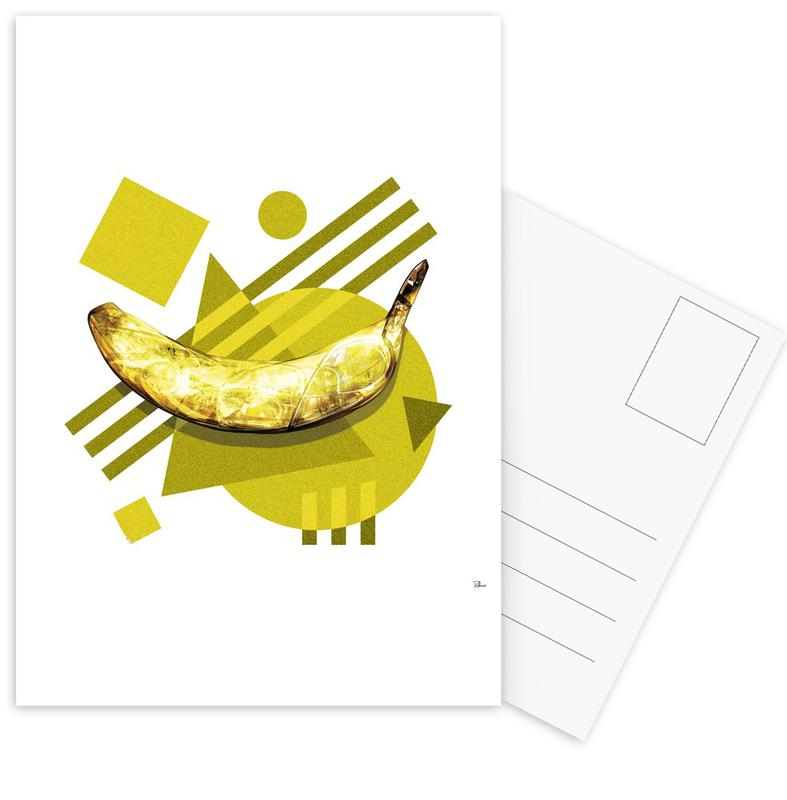 Bananas, Pop Art, Lamda Banana Postcard Set
