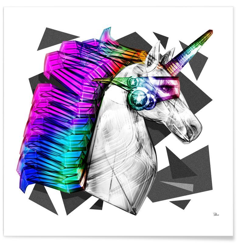 Pop Art, Unicorns, Poney Superstar Poster