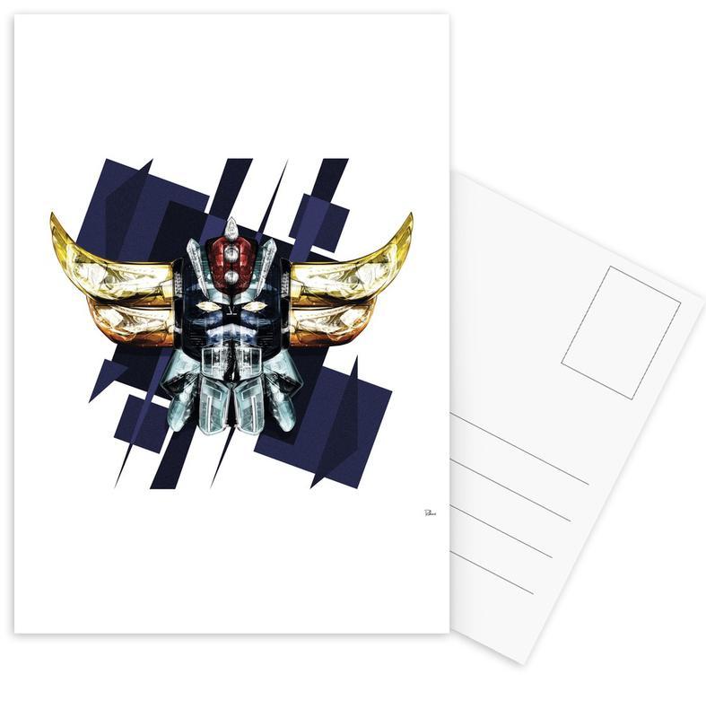 Pop Art, Robotorak Postcard Set