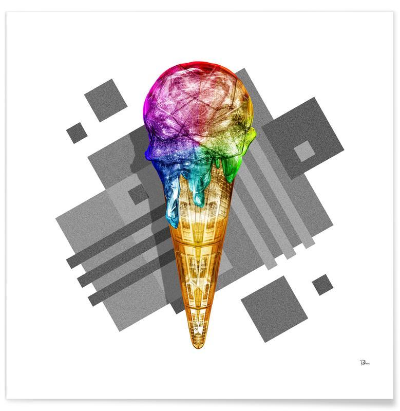 Eiscreme, Pop Art, Suck My Rainbow -Poster