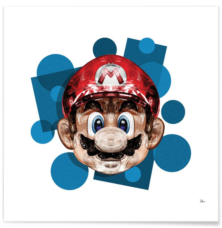 Mario, Popart, Super Plombier poster