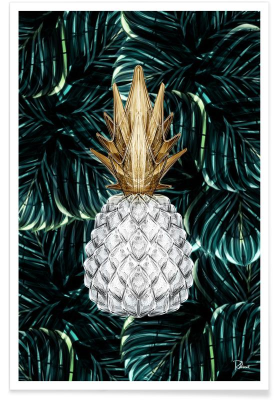 Ananas Gold -Poster