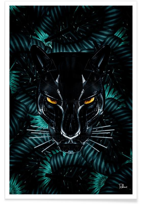 Bladeren en planten, Black Panther poster