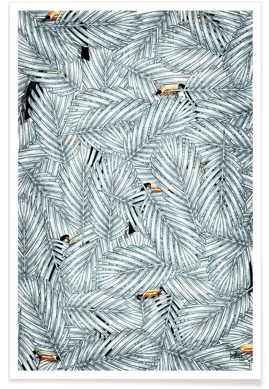 Kanaries, Bladeren en planten, Cache Cache poster