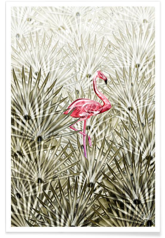 Bladeren en planten, Miami, Flamingo's, Miami Flamingo poster