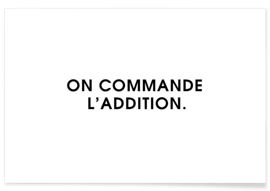 On commande l'addition - White Poster