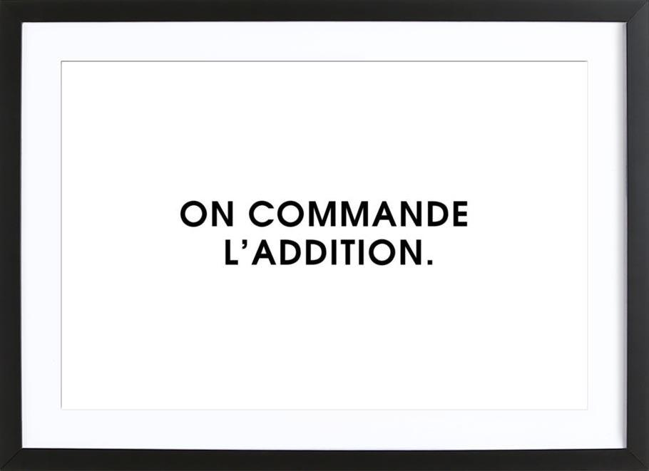 On commande l'addition - White Framed Print