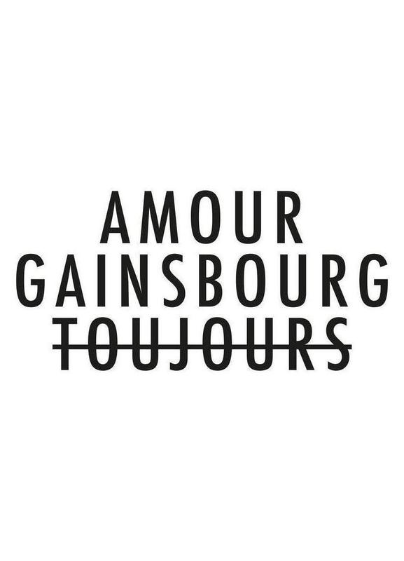 Amour Gainsbourg Toujours I black on white Canvas Print