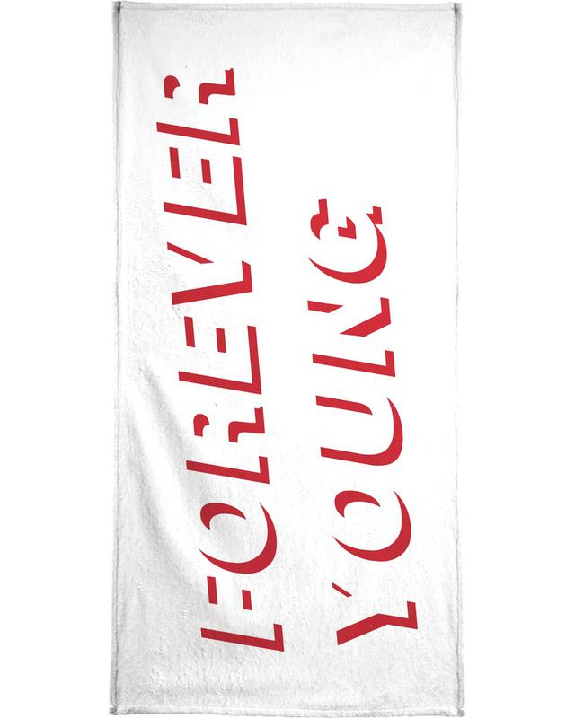 Forever Young White Bath Towel