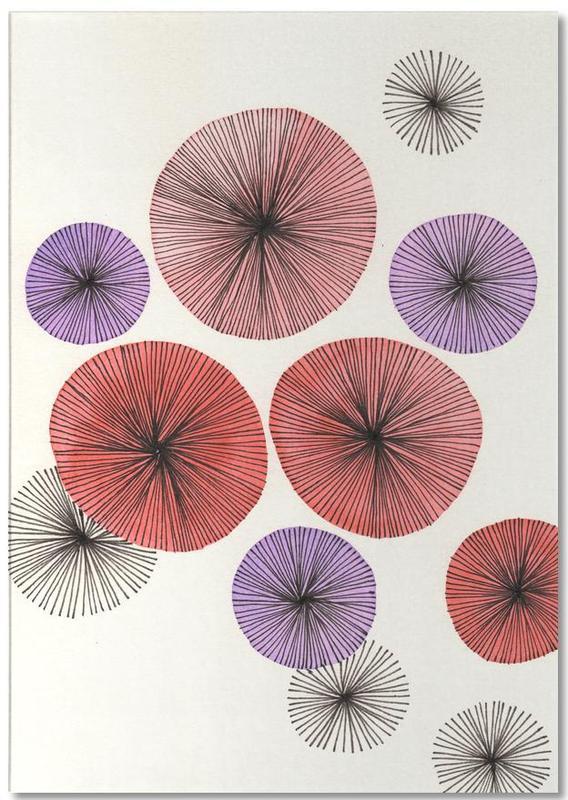 Line Art Blossom red Notepad