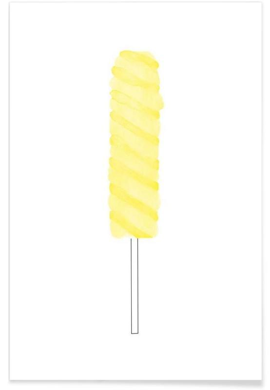 Yellow Ice Cream Poster
