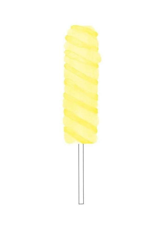 Yellow Ice Cream -Leinwandbild