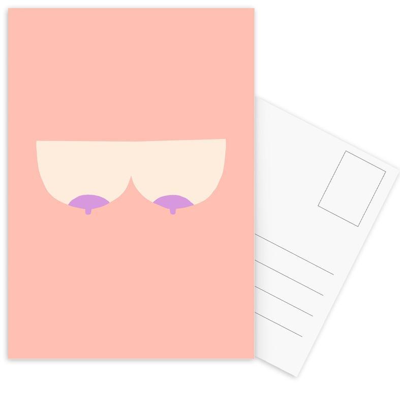 Body close-ups, Boobs 7 ansichtkaartenset